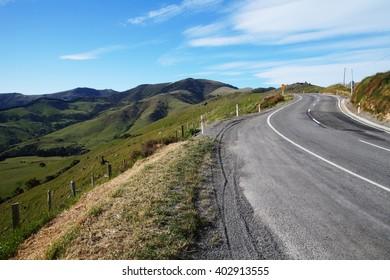 Road to Akaroa, New Zealand