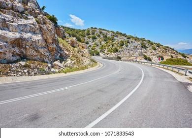 Road along the Mediterranean Sea in Turkey