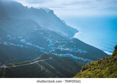 Road in Anaga Mountains Taganana Tenerife, Canary island