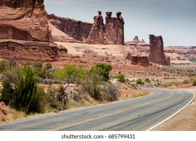Road in the Arches National Park USA