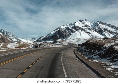 Road from Argentina to Chile