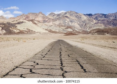 Road at the artist drive, Death Valley, California