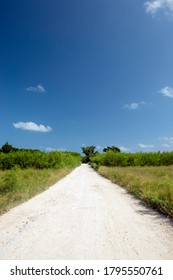 Road to Ayaru beach in Taketomi Island, Okinawa Prefecture