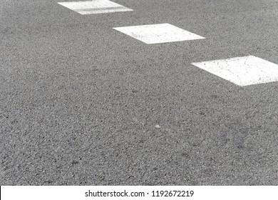road background, asphalt with white blocks