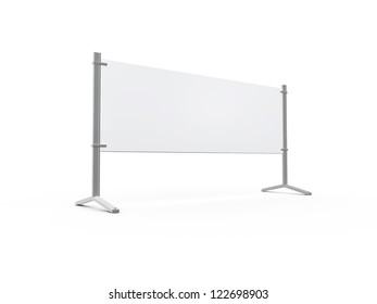 Road barrier or billboard, isolated on white background.
