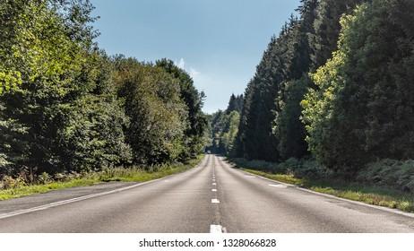 Road in Belgian Ardennes