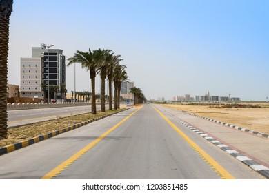 Road beside Cornice, Dammam , Saudi Arabia, 11th march 2018