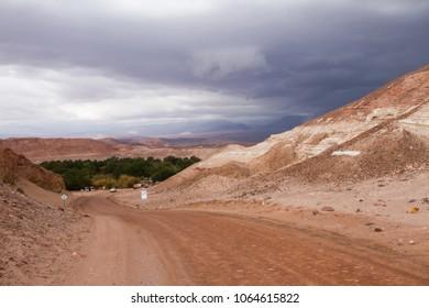 Road between mountains
