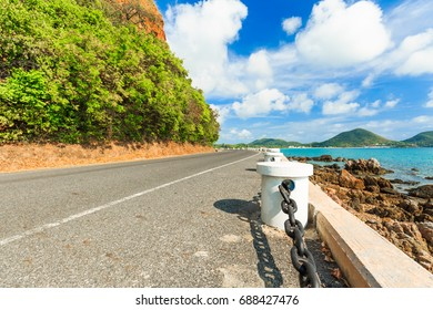 Road and beutiful sea in Thailand