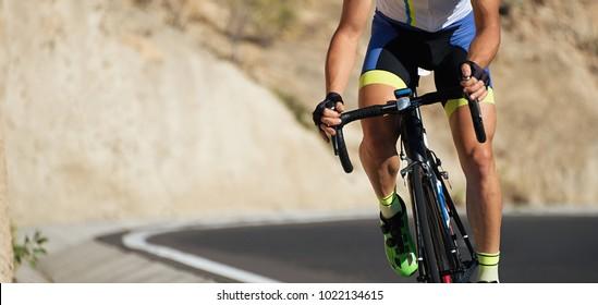 Radfahrer, Radfahrer, Athlet auf Rennen