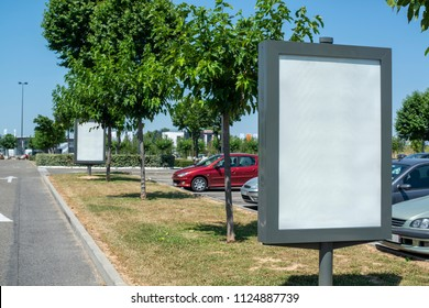 Road billboard or lightbox signing mockup