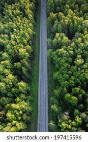 Road bird's-eye view