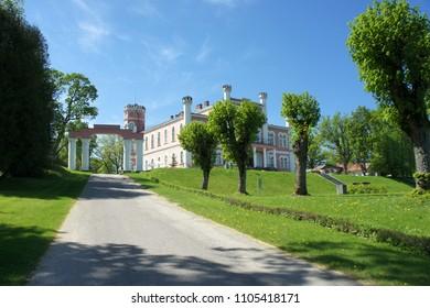 The road to the Birini Castle.Latvia.