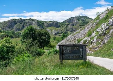 Road to Bobotov Kuk - mountain in Montenegro, Natural park Durmitor