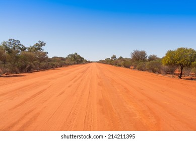 Road to Bourke in the Australian outback.