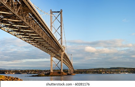 road bridge across the Firth of Forth at North Queensferry Peninsula in Scotland.