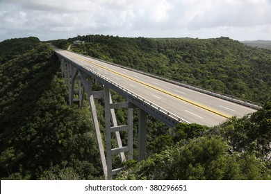 Road Bridge in Cuba with no traffic
