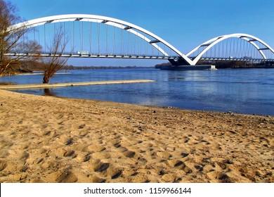 The road bridge of General Zawacka (Torun, Poland)