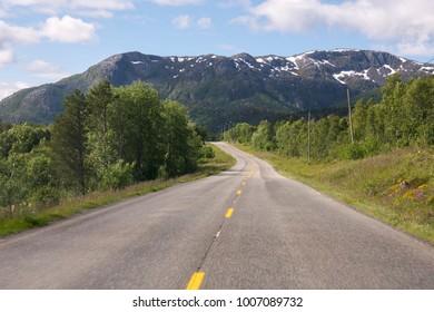 road and bridge in the Lofoten in Norway
