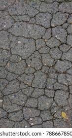 road broken stone