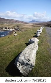 Road by the coast in Achill Island, Ireland.