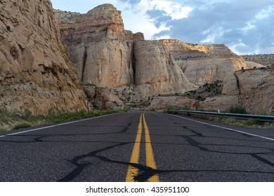 Road in Capitol Reef National Park, Utah, USA.