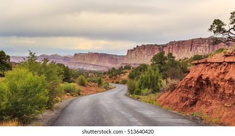 Road in Capitol Reef National Park, Utah
