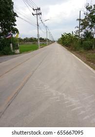 road as cement in rural
