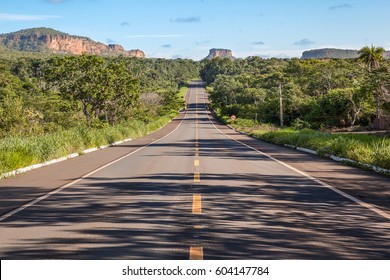 Road at Chapada das Mesas National Park - Carolina, Maranhao, Brazil