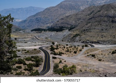 Road in Chilean valley