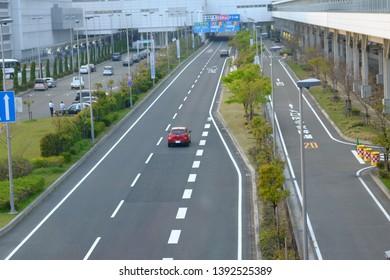 Road to Chubu Centrair International Airport: 21 Apr 2019-Nagoya,Japan