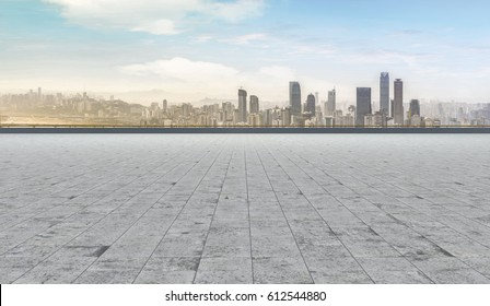 Road and city skyline
