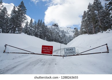 Road Closed for Avalanche Control