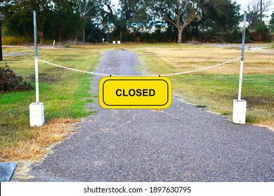 Road closed border closed blocked signage