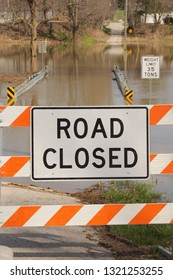 Road closed due to high water.