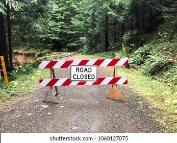 Road Closed Due To Landslide in Oregon