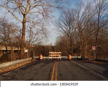 Road Closed At Keep Loudoun Beautiful Park, Leesburg, Northern Virginia