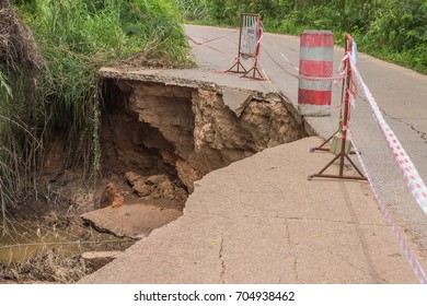 The road collapsed