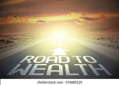 Road concept - road to wealth
