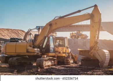 road construction machines.