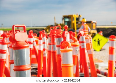 Road construction safety pilons