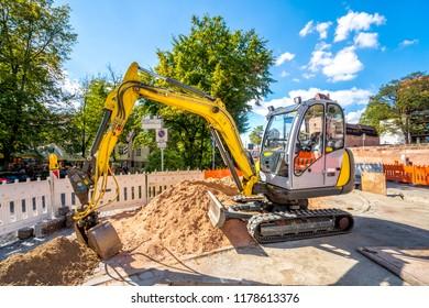 Road, Construction, site