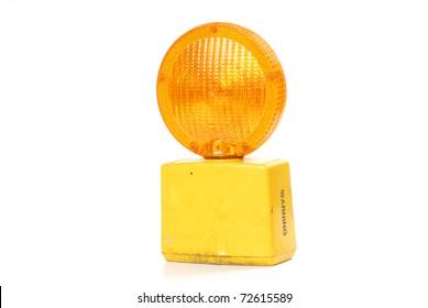 road construction yellow light