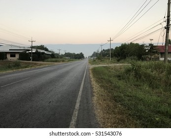 The road in country