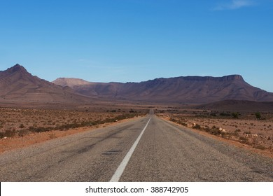 Road in the countryside of Morocco, Africa