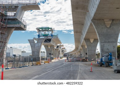 road currently under construction at several levels to increase traffic