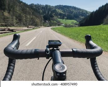 Road Cycling handlebar POV