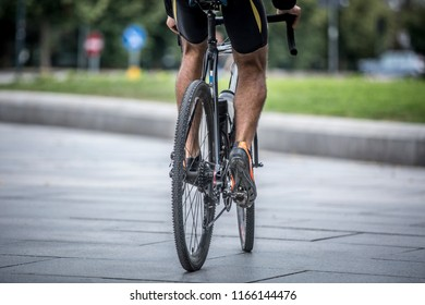 Road cyclist on a bicycle.