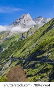 Road D918  Col d Aubisque, French Pyrenees. From Eaux-Bonnes to Gourette