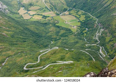 Road to Dalsnibaa - one of the moust beautiful mountain rouds in  Norway, Scandinavia, Europe